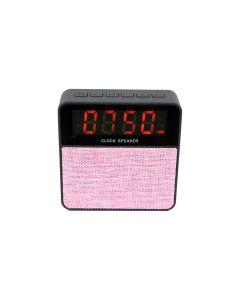 Radio portabil cu Ceas, Alarma si Bluetooth - Soundvox T1, Roz