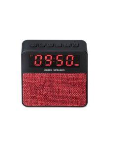 Radio portabil cu Ceas, Alarma si Bluetooth - Soundvox T1, Rosu