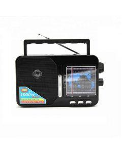 Radio Portabil AM/FM/SW1-7 9 Benzi, Acumulator Inclus, USB/TF/SD Card, Soundvox FP-1821U, Negru
