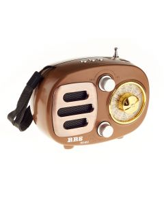 Radio cu MP3 Player cu RS-653 FM/AM/SW, USB, SD, Maro