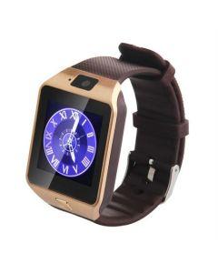 Ceas Smartwatch, BigShot X09, cu Touchscreen si Bluetooth, Camera Foto, Voice Record, Slot SIM & Card SD, Monitorizare somn, Calorii, Pedometru, WhatsApp, Facebook, Auriu