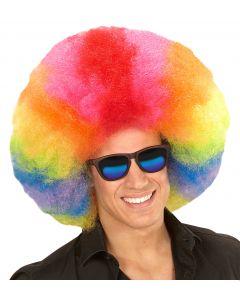 Peruca Afro Multicolora Widmann