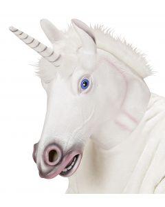 Masca Cal Unicorn Alb
