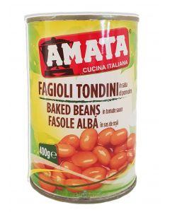 Fasole alba in sos de rosii Amata - 400 g