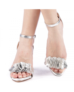 Sandale dama Beky argintii, 36