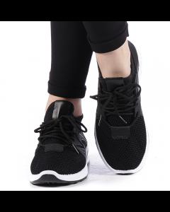 Pantofi sport dama Hemana negri cu alb, 39