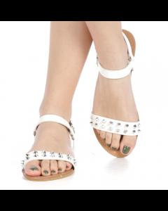 Sandale dama Sinca albe, 39