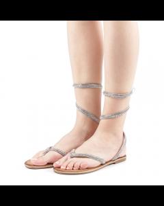 Sandale dama Beatris argintii, 37