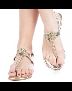 Sandale dama Lena aurii, 37