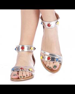 Sandale dama Darina argintii, 37