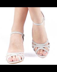 Sandale dama Lukas argintii, 39