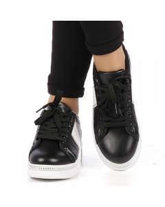 Pantofi sport dama Alliance negri cu alb, 39
