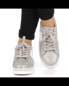 Pantofi sport dama Alliance gri cu alb, 38