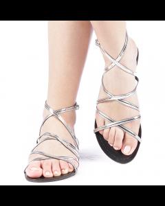 Sandale dama Xenia argintii, 36