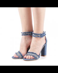 Sandale dama Jeans albastru deschis, 40