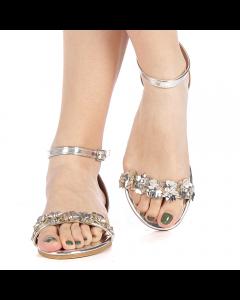 Sandale dama Covona argintii, 39
