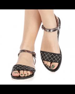 Sandale dama Rusna negre, 39