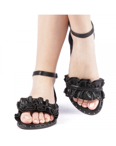 Sandale dama Harmina negre, 40