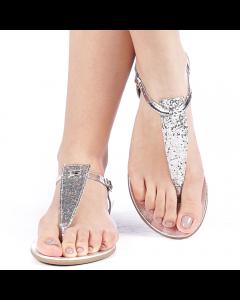 Sandale dama Lilly argintii, 37