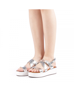 Sandale dama Sariba argintii, 40