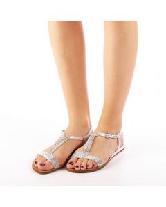 Sandale dama Mahima argintii, 39