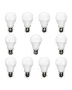 Set 10+1 Becuri LED 10W E-27, forma glob, Spectrum, lumina calda, 17000 ore, echivalent 60W
