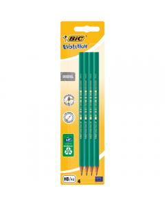 Creion grafit ECO Evolution, set 4 bucati, Bic