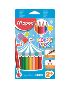 Creioane colorate Maped Color'Peps My First Jumbo, set 12 bucati