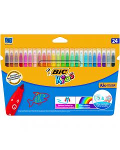 Markere colorate ultralavabile Kid Couleur, 24 bucati