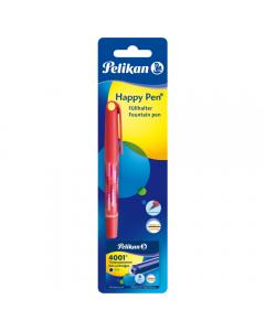 Stilou Happy Pen + 6 patroane mici, rosu