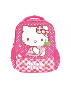 Ghiozdan Gradinita Hello Kitty, roz buline, Pigna