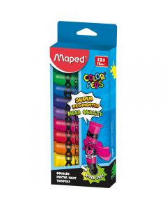 Tempera 12 culori x 12 ml, Maped