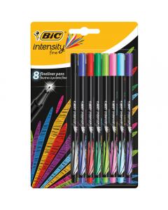 Fineliner Intensity, set 8 bucati, multicolor
