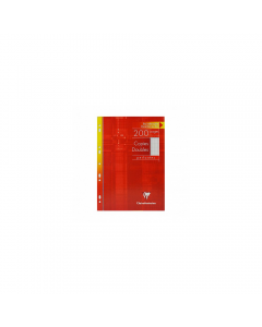 Foi albe duble multiperforate 90g/mp 100 file, Clairefontaine