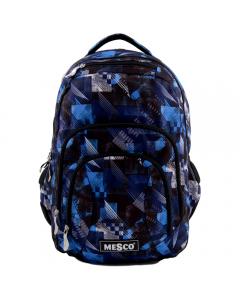 Rucsac 3 compartimente, negru-albastru, Mesco