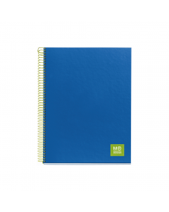 Caiet A5 spira 125 file matematica coperta plastic, albastru
