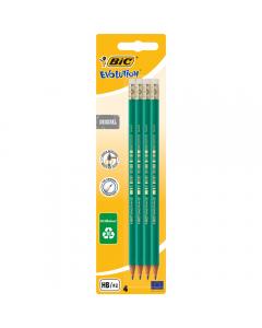 Creion grafit ECO Evolution 655, set 4 bucati, Bic