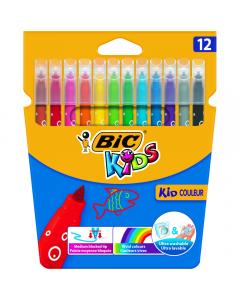 Markere colorate ultralavabile Kid Couleur, 12 bucati
