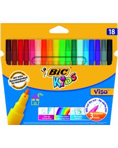 Markere colorate lavabile Visa, 18 bucati
