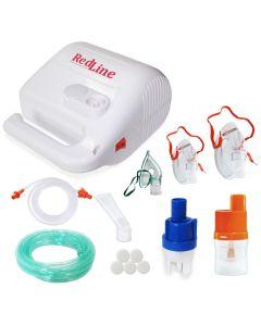 Aparat aerosoli RedLine NB-315 PRO, nebulizator cu compresor, MMAD 2.44 si 4 µm, pentru adulti si copii, furtun 2 si 6 m