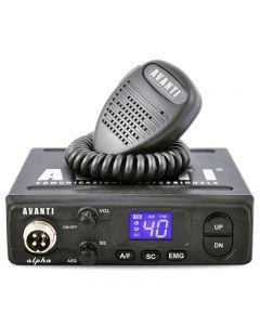 Statie radio CB Avanti Alpha, putere 4 W, tehnologie SMD, Squelch automat si manual