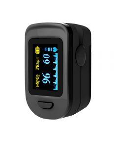 Pulsoximetru, RedLine FS20C, Negru, indica nivelul de saturatie a oxigenului din sange, masoara rata pulsului, avertizare sonora