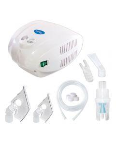 Aparat aerosoli Sanity Alergia Stop Inhaler, nebulizator cu compresor, MMAD 3 µm, Cupa medicamente 10 ml, Dispozitiv pentru intreaga familie