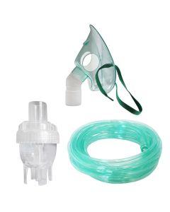 Kit accesorii pentru aparat de aerosoli cu compresor Redline NB-6, cu furtun de 6 m si masca medie rotativa, recomandat pentru copii mici