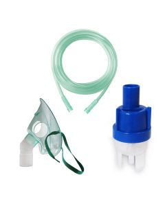 Kit accesorii universale pentru aparatele de aerosoli cu compresor RedLine RDA007, masca medie rotativa, furtun 2 m, kit de nebulizare