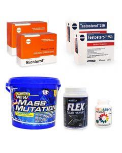 Pachet Megabol Forte masa musculara, 7 produse stimulare testosteron, suport proteic si energie, suport articulatii si vitamine