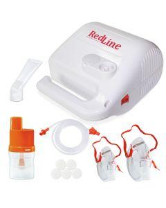 Aparat aerosoli RedLine NB-315, nebulizator cu compresor, MMAD 2.44 µm, pentru adulti si copii, 3 ani garantie, Alb