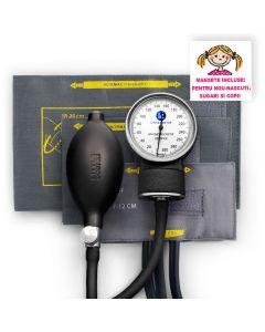 Tensiometru mecanic Little Doctor LD 80, pentru copii si nou-nascuti, fara stetoscop, manometru metalic, 3 mansete (XS,S,M), Negru/Gri