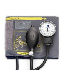 Tensiometru mecanic Little Doctor LD 70, profesional, fara stetoscop, manometru din metal, dimensiune manseta 25 – 36 cm, inel de fixare metalic, Negru/Gri
