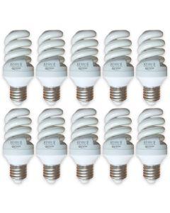 Set 10 becuri economic ecoLite, 12 W, 600 lm,  clasa A, lumina calda